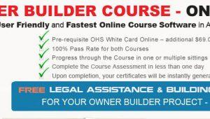 Owner builder course online