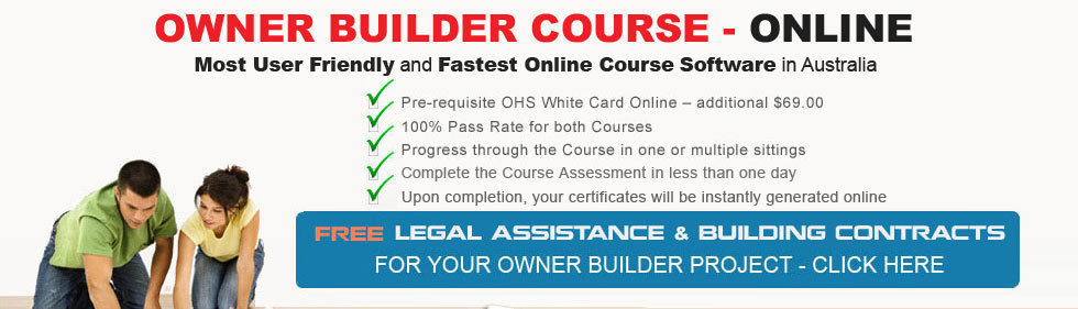 Owner builder course online